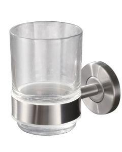 Blas glas+houder rvs
