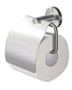Blas toiletrolhouder met klep rvs