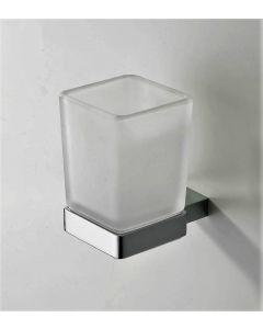 Eliot glas+houder chroom