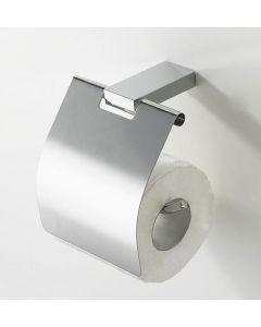 Eliot toiletrolhouder met klep chroom