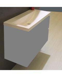 Fred kunstmarmeren wastafel 100x36 wit excl. kraangat