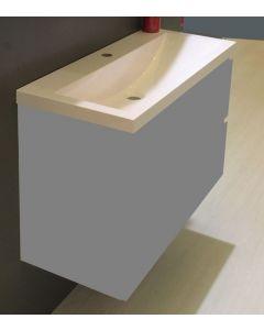 Fred kunstmarmeren wastafel 100x36 wit