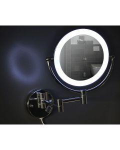 Haga scheerspiegel LED chroom