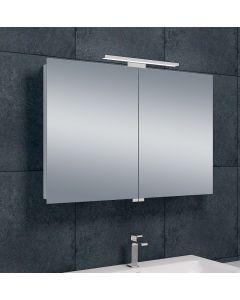 Bice 2-deurs spiegelkast LED 600x900x140