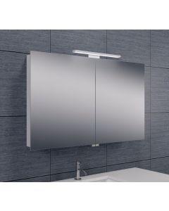 Bice 2-deurs spiegelkast LED 600x1000x140