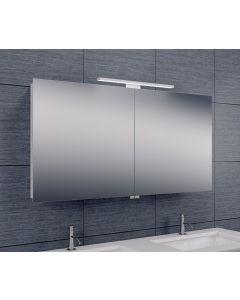 Bice 2-deurs spiegelkast LED 600x1200x140