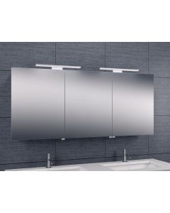 Bice 3-deurs spiegelkast duo-LED 600x1400x140