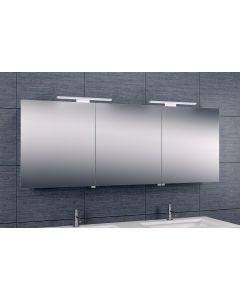 Bice 3-deurs spiegelkast duo-LED 600x1600x140