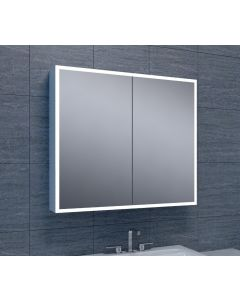 Quinn quatro-LED spiegelkast 800x700x130