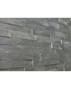 Natuursteenstrips Schiste flatface antraciet slate