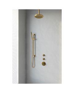 Inbouwset 11 Thermostatische Regendouche 20cm Gold Edition