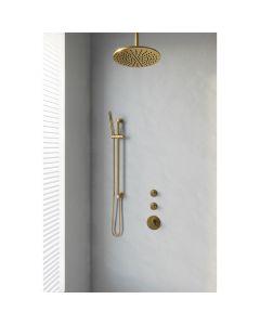 Inbouwset 13 Thermostatische Regendouche 20cm Gold Edition