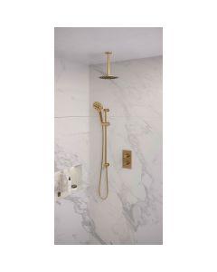 Inbouwset 47 Thermostatische regendouche 20cm Gold Edition