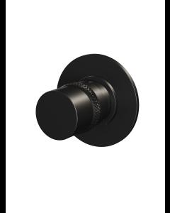 Stopkraan ronde knop ronde rozet Black Edition