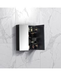 Spiegelkast Tieme in mat zwart 600x700x160mm