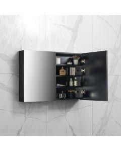 Spiegelkast Tieme in mat zwart 1000x700x160mm
