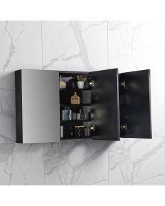 Spiegelkast Tieme in mat zwart 1200x700x160mm