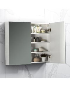 Spiegelkast Tieme in hoogglans wit 800x700x160mm