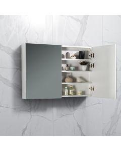 Spiegelkast Tieme in hoogglans wit 1000x700x160mm