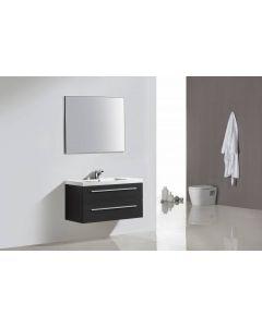 Badmeubelset Leif 100cm Silver Grey met spiegel