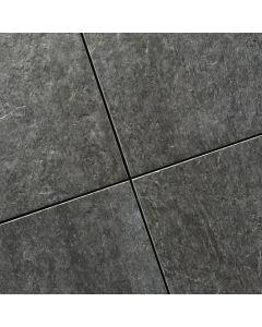 Keramische terrastegels Durban Slate Sell Pillarguri Black 60x60x2 cm gerectificeerd