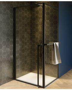 Lucid Douchecabine 800x1000 mm mat zwart