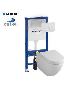 Geberit UP100 Design hangtoilet met Delta drukplaten
