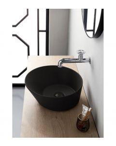 Mees Design Opbouw Waskom Rond Mat Zwart