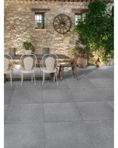 Keramische terrastegels Bluestone grigio 60x60x1,8 cm rett