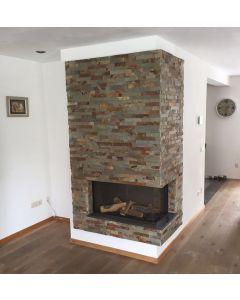 Stonepanel Schiste flatface rusty slate 15x60x1/2
