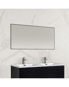Finn aluminium omlijsting spiegel 1200x600 zwart