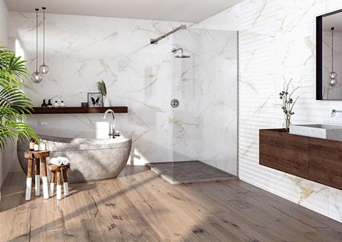 Vloertegels En Wand Tegels Matchen In De Badkamer